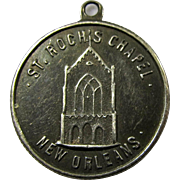 Vintage St. Roch's Chapel Lucky Medallion From New Orleans