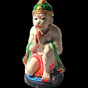 Hanuman Hindu Monkey God Statue Made of Ganges River Clay
