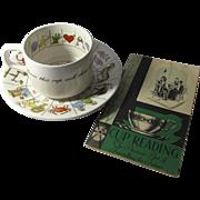 Vintage Taltos Fortune Telling Tea Cup Set by Jon Anton - Free Book