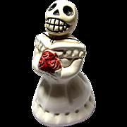 Vintage Day of the Dead Ceramic Skeleton Girl
