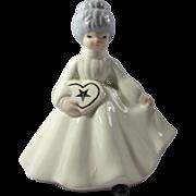 Vintage Ceramic Eastern Star Lady Figurine
