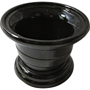 1930s Black Glass Apothecary Jar by Jean Vivadou Co.