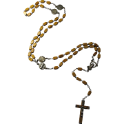1950s Olive Wood Basilica Rosary From The Vatican