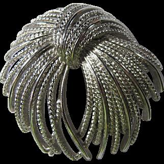 1960s Monet Silvertone Fireworks Brooch