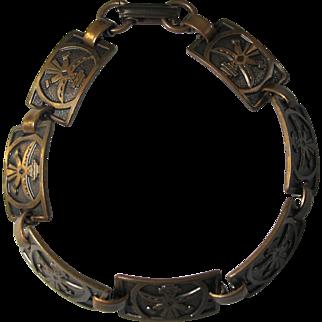Vintage Copper Kachina Dancer Bracelet