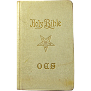 1938 Order of the Eastern Star First Communion Bible