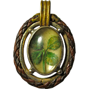 Victorian Lucky 4-Leaf Clover Pendant or Watch Fob Ornament