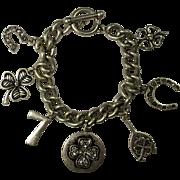 Vintage Lucky Symbols Charm Bracelet