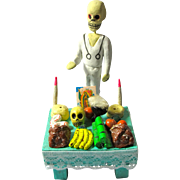 """Vintage Day of the Dead """"Witch Doctor"""" & Tiny Altar From Mexico"""