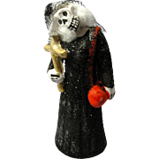 Vintage Day of the Dead Catrina Skeleton Lady From Mexico