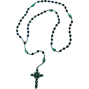 """Laguna Dream"" PZBaubles Handmade Rosary With Turquoise Nuggets - Red Tag Sale Item"