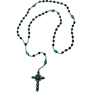 """Laguna Dream"" PZBaubles Handmade Rosary With Turquoise Nuggets"