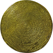 Antique Gold-Plated Spiral Fertility Charm From Italy