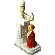 Vintage Bishop & Altar Boy Ceramic Figurine