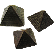 Vintage Nesting Brass Pyramids From Egypt