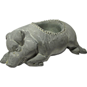 Vintage Pewter Pig Votive Candle Holder