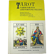 Tarot Cards For Fun & Fortune Telling Book (1978)
