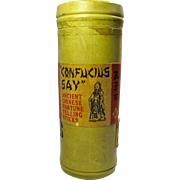 "1920s ""Confucius Say"" Ancient Chinese Fortune Telling Stick Game"