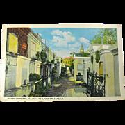 1920s New Orleans St. Louis Cemetery Postcard Unused