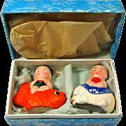 Vintage Feng Shui Good Luck Baby Boy & Girl In Original Box