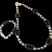 Handmade Onyx Loop Beaded Jewelry Set