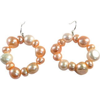 Handcrafted Cultured Freshwater Pearl Earrings