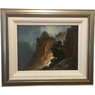 """Canyon Light"" by M. Charles Rhinehart (Born 1930)"