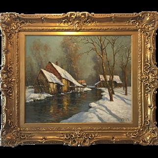 Winter Twilight by Georges Maroniez (1865-1933)