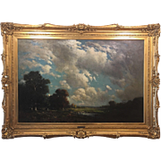 """Julian Rix """"The Approaching Storm"""" - Oil on Canvas composed in 1898"""