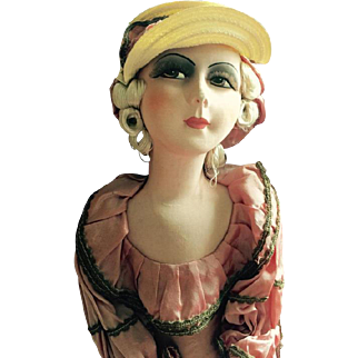 Super Deco 1920's French Flapper Boudoir doll don't miss out!
