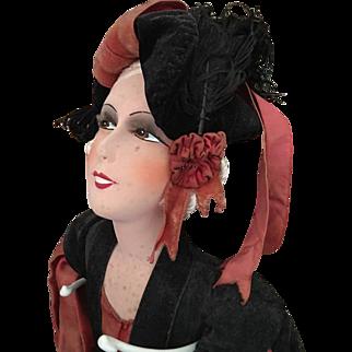 Rare Smiling Boudoir Doll Flapper 1930's