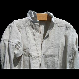 Antique French Priests Shirt Linen Smock Tunic Chemise Pure linen Monks habit