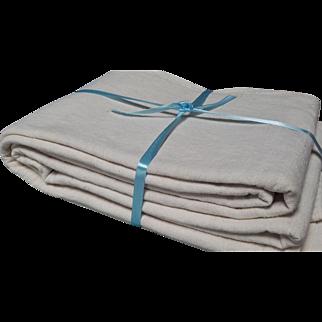 Antique French Hemp Linen Tablecloth 1900 Bordeaux 'Vendange' Fabric. Vineyard Harvest Chateau Wedding