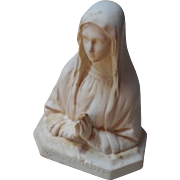 Antique French Bust Madonna Statue Our Lady of Lourdes