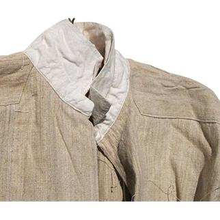 Antique French Priests shirt Linen Smock Monastery Tunic Chemise Pure Untreated linen c1880