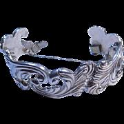 Los Castillo Taxco Vintage Sterling Silver Tribal Design Link Bracelet.