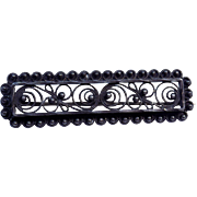 Vintage Sterling Silver 925S Scandinavian Filigree Floral Brooch Pin