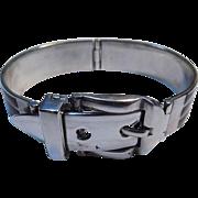 Gucci Antonio Fallaci Designer Brown Enamel Sterling Silver Buckle Bracelet.
