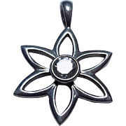 Silpada Sterling Silver Star CZ Modernist Pendant!
