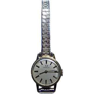 Omega Gold Filled 70's Maniacal Windup Ladies Wristwatch.