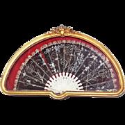 Hogarth fan in a frame