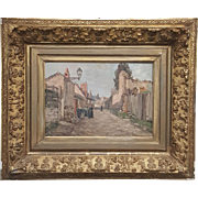 French oil painting on canvas country village