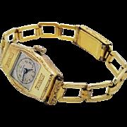 A vintage 14K yellow gold lady's Montrose mechanical wristwatch