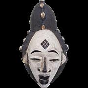 African ethnographic art wooden Punu mask