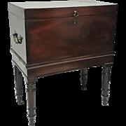 An 18th century Georgian mahogany box cellarette