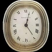 A vintage Tiffany & Co brass 8-day alarm clock