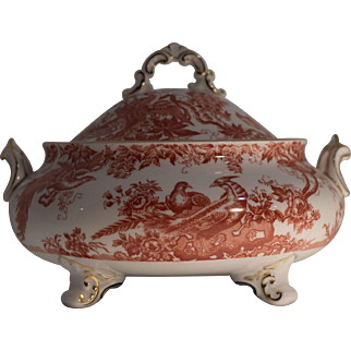 Red Aves, Royal Crown Derby Covered Tureen