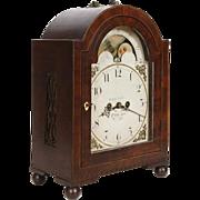 John L. Lawson, Philadelphia C. 1840's Fusee Bracket Clock w/ rolling moon dial