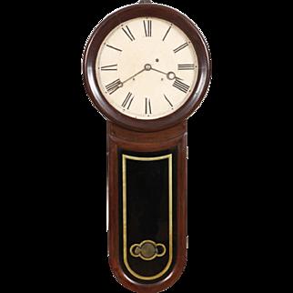 Rosewood Keyhole Weight Driven Regulator Clock Hatch No. Attleboro MA C. 1870