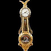 Elmer Stenner Bride's Girandole Clock MCIP #8, 1972, Signed Glasses Melinda Ahola